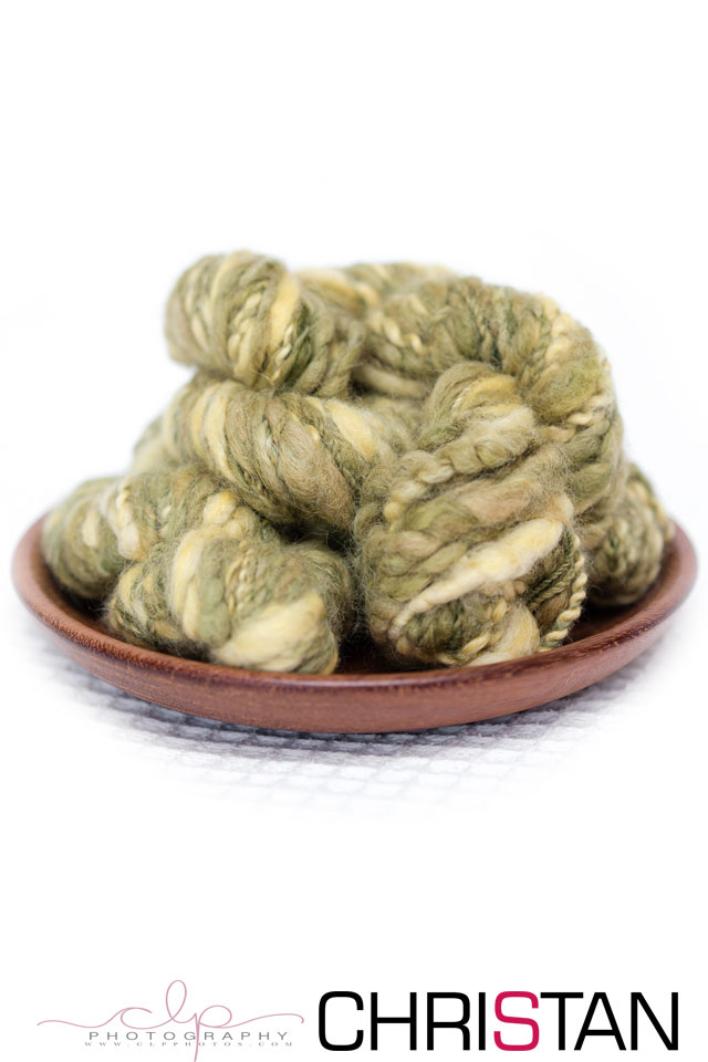 Olive & Gold Texture Yarn
