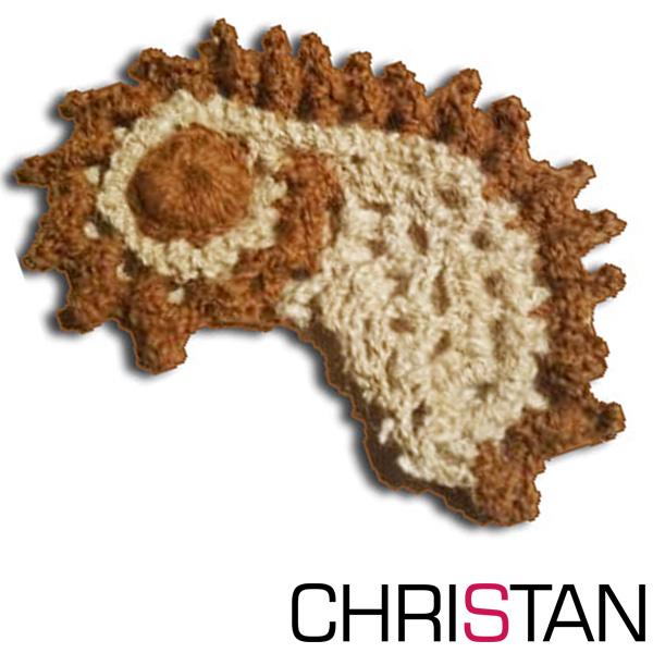 Baby Seahorse Crochet Brooch